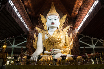 Nga Htat Gyi, also known as the five-storey Buddha, Yangon, Myanmar.