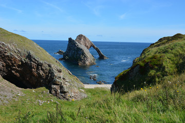 Bow Fiddle Rock with cliffs