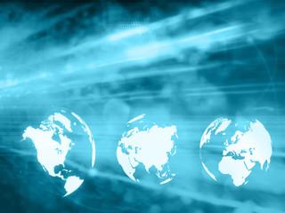 world map technology style..