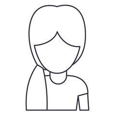Woman cartoon icon. Avatar people person and human theme. Isolated design. Vector illustration