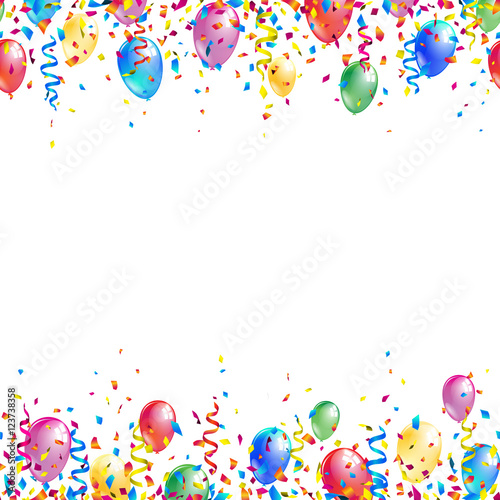 Quot Bright Seamless Celebration Borders With Colorful