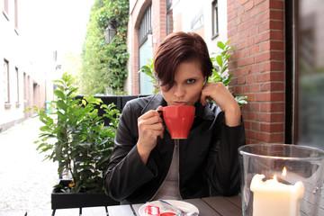 coffee trinking woman