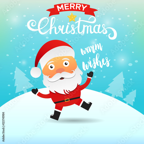 Santa claus cartoon character saying warm wishes merry christmas santa claus cartoon character saying warm wishes merry christmas greeting card m4hsunfo