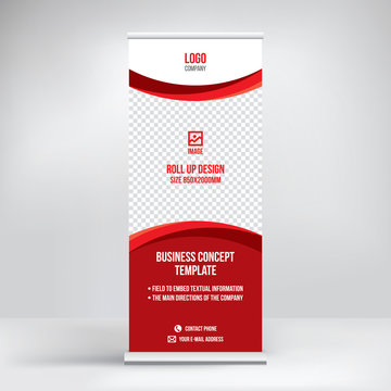 Roll up banner template for exhibition
