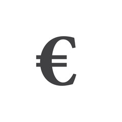 euro symbol. vector sign, solid logo illustration, pictogram isolated on white