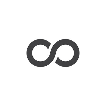 infinity symbol. lemniscate icon vector, solid logo illustration, pictogram isolated on white