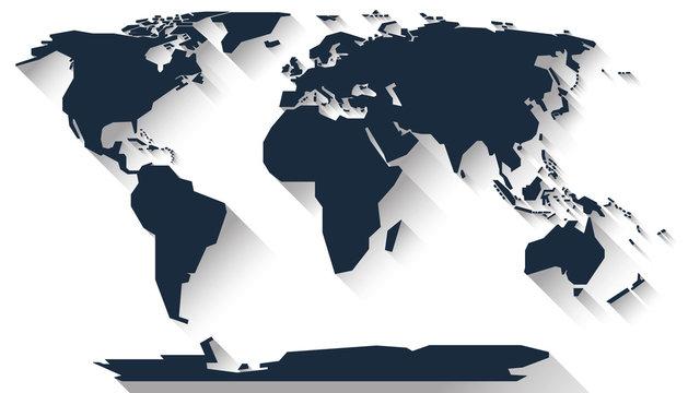 World map flat design