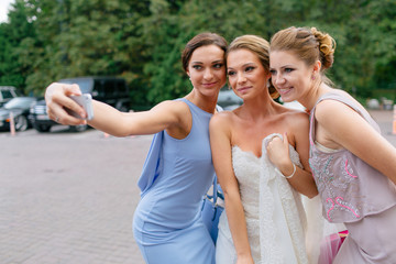 Selfie of the bride and her best friends