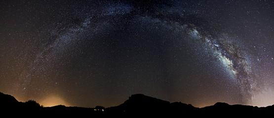 Milky Way over parador Las cañadas del Teide