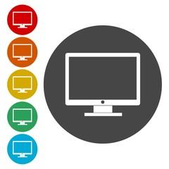 Monitor TV icon. Monitor TV flat symbol