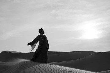 Vera in the Rub'al Khali Desert