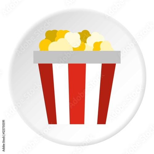 """""""Popcorn box icon. Flat illustration of popcorn box vector ..."""