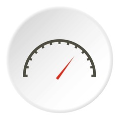 Factory speedometer icon. Flat illustration of factory speedometer vector icon for web