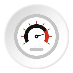 Exclusive speedometer icon. Flat illustration of exclusive speedometer vector icon for web