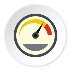 Speedometer custom icon. Flat illustration of speedometer custom vector icon for web