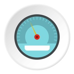 Electronic speedometer icon. Flat illustration of electronic speedometer vector icon for web
