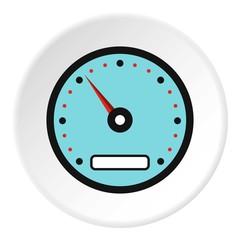 Sport speedometer icon. Flat illustration of sport speedometer vector icon for web