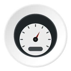 Small speedometer icon. Flat illustration of small speedometer vector icon for web