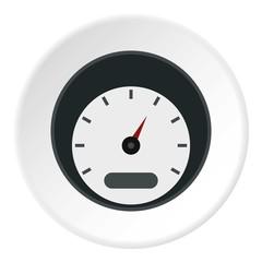 Small speedometer icon. Flat illustration of small speedometer vector icon for web