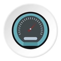 Speedometer icon. Flat illustration of speedometer vector icon for web