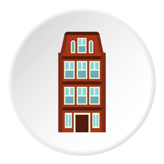Dutch house icon. Flat illustration of dutch house vector icon for web