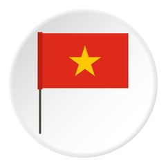 Flag of Vietnam icon. Flat illustration of flag of Vietnam vector icon for web