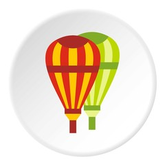Balloons icon. Flat illustration of balloons vector icon for web