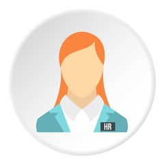 Girl worker icon. Flat illustration of girl worker vector icon for web