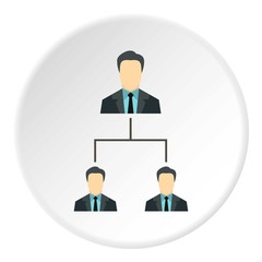Team of employees icon. Flat illustration of team employees vector icon for web