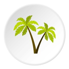 Palms icon. Flat illustration of palms vector icon for web