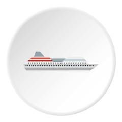 Yacht icon. Flat illustration of yacht transport vector icon for web