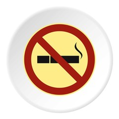 Smoking is prohibited icon. Flat illustration of smoking is prohibited vector icon for web