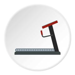 Treadmill icon. Flat illustration of treadmill vector icon for web