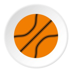 Basketball ball icon. Flat illustration of basketball ball vector icon for web