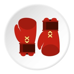 Boxing gloves icon. Flat illustration of boxing gloves vector icon for web