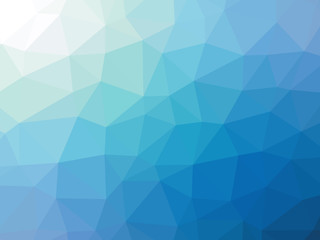 Abstract blue teal gradient polygon shaped background