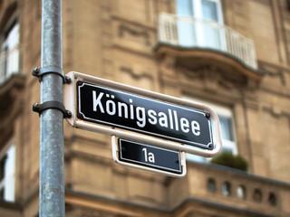 Königsallee Strassenschild in Düsseldorf