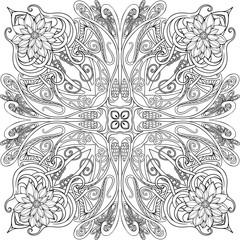 Adult coloring page-mandala4