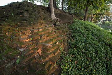 ancient wall around old Chiang Saen district,CHiang Rai,Thailand