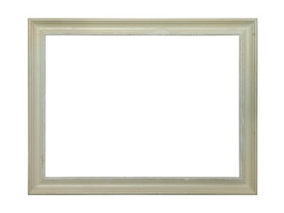 White classic painting canvas frame isolated