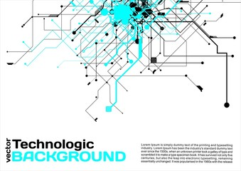 Abstract background electronic circuits hi-tech industrial