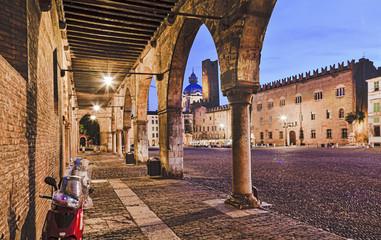 Mantua Colonnade Vespa Square Wall mural