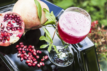 Fruit and juice of pomegranate