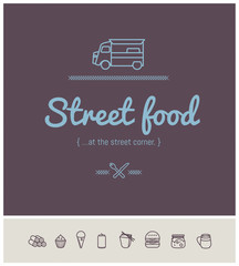 Logo, identity, brand, vector, pictogram, food truck, eating, restaurant, car, vintage