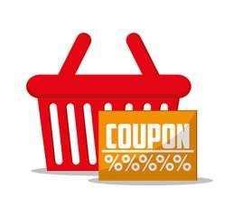Basket icon. shopping online ecommerce media and market theme. Colorful design. Vector illustration