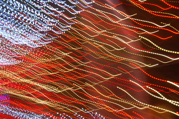 red and white light streaks