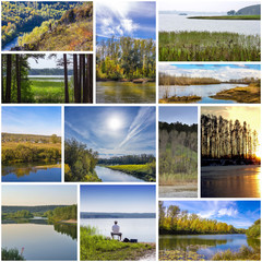 The river Berd in the different seasons of the year, Novosibirsk