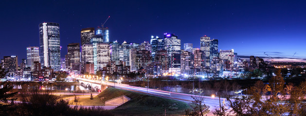 Calgary Downtown Nightsky