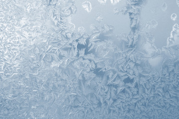 frost pattern window snowflakes
