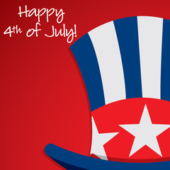 Uncle Sam hat United States of America card in vector format.